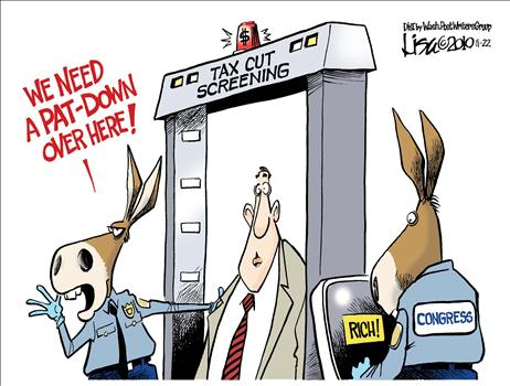 TSA Pat-Downs ~ Political Cartoon