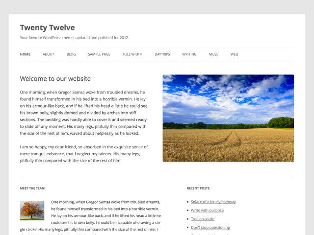 How to Add Footer Widgets to WordPress Twenty Twelve Theme